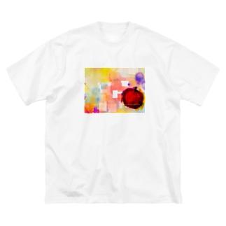 アップル Big silhouette T-shirts
