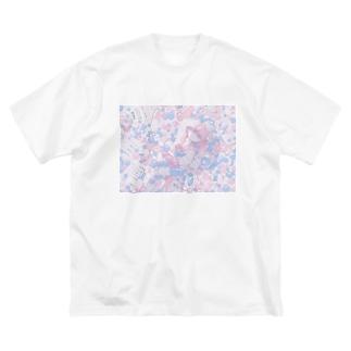 メルヘンな女の子 Big silhouette T-shirts