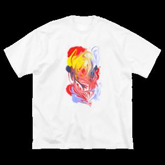 ナノプラス  :  nano+の噴火 (maguma) Big silhouette T-shirts