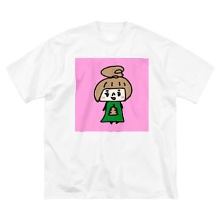 うんこちゃん(ピンク) Big silhouette T-shirts