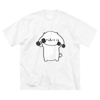 運動はっちゃん Big silhouette T-shirts