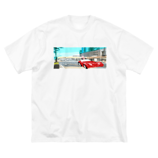 Danke Shoot Coffeeのドナ・ドナ・ドーナ孔子を乗せて~仙台に来た弟子を迎えに広瀬バスセンターへ行く Big silhouette T-shirts