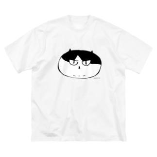 ふしぎ猫 コムちん まんじゅうバージョン Big silhouette T-shirts
