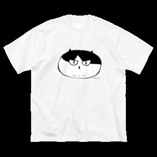 猫ドМさん専用猫グッズのお店 びーにゃんくらぶのふしぎ猫 コムちん まんじゅうバージョン Big silhouette T-shirts