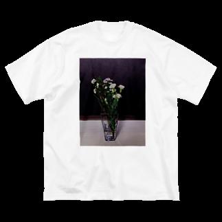 オダギリの目に痛く無い花 Big silhouette T-shirts