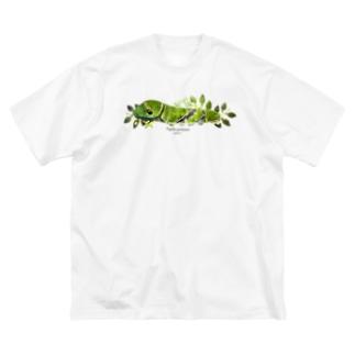 クロアゲハイモムシ Big silhouette T-shirts