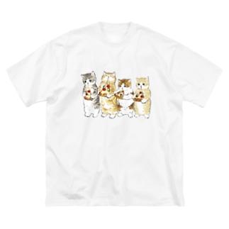みよーんピザ Big silhouette T-shirts