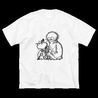 mizo+のボクくん×僕くん Big silhouette T-shirts