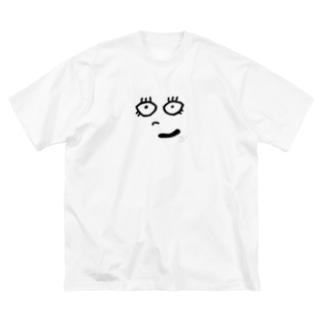 見つめてなの Big silhouette T-shirts