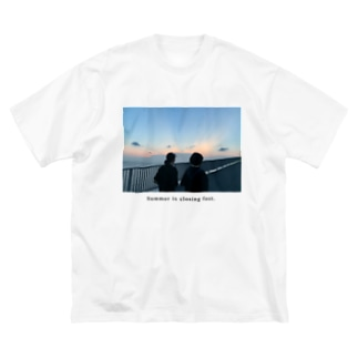 夏の終わり Big silhouette T-shirts