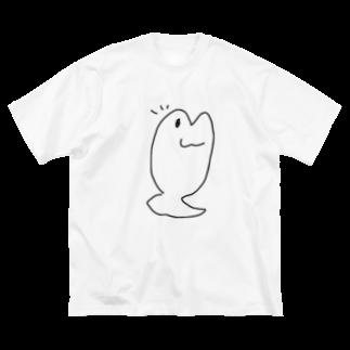 ダイナマイト87ねこ大商会の喜ぶたいです Big silhouette T-shirts