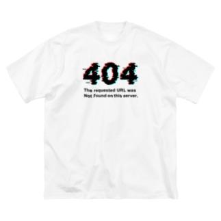 インターネットクラブの404 Not Found Big silhouette T-shirts