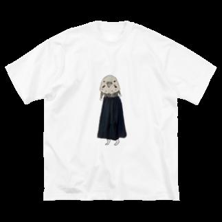 冬虫夏草洋品店のインコ仮面足長 Big silhouette T-shirts