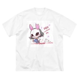 ハントレスちゃ Big silhouette T-shirts