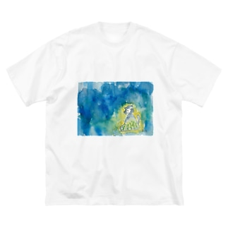 あかりにゃんこ | Atelier*Note Big silhouette T-shirts