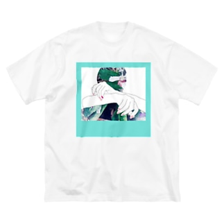 春を愛する人 Big silhouette T-shirts