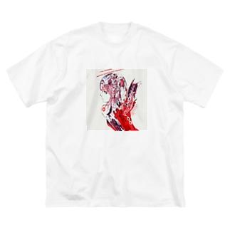 赤天使ちゃん Big silhouette T-shirts
