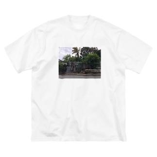 バックパッカーの思い出T@ジャマイカキングストン Big silhouette T-shirts