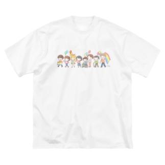 【Rainbow】パレード Big silhouette T-shirts