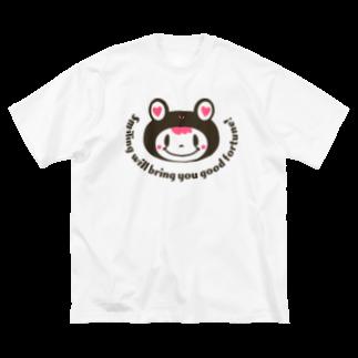 ハンクソンの笑顔でケロル Big silhouette T-shirts