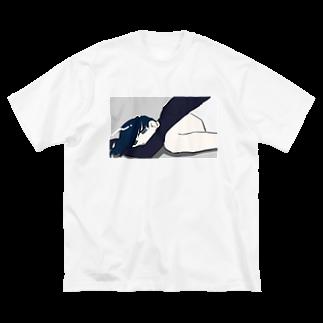 PPの寝 Big silhouette T-shirts