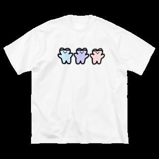 くまくま。ショップのめるへんゆめのかわいい世界 Big silhouette T-shirts