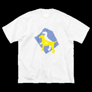 yashirokiraのDOG 2 Big silhouette T-shirts