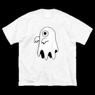 煙管のオバケ Big silhouette T-shirts