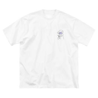 RikushiのバックシルエットTシャツ Big silhouette T-shirts