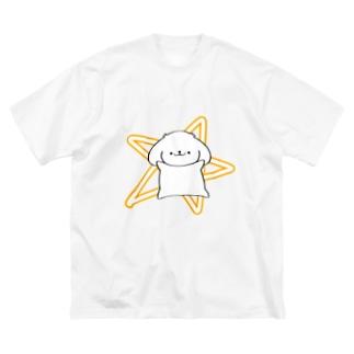 「でん」はっちゃん Big silhouette T-shirts