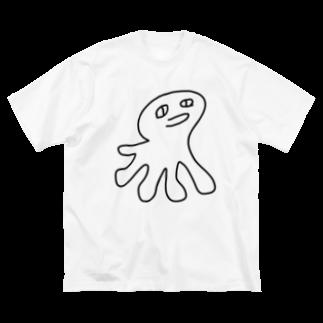 黒シャツ(XUV)のくらげ Big silhouette T-shirts