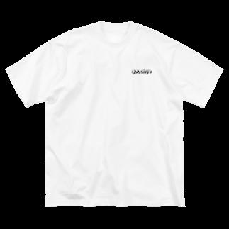 colorbarsのgoodbye モノクロ Big silhouette T-shirts