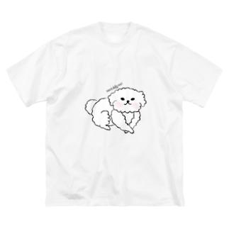 モフモフわんこ様 Big silhouette T-shirts
