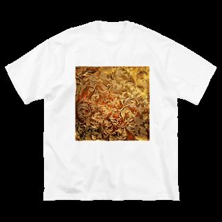 IMULTA(イムルタ)のエングレーヴ柄 Big silhouette T-shirts