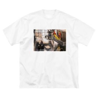 れいぞうこくん Big silhouette T-shirts