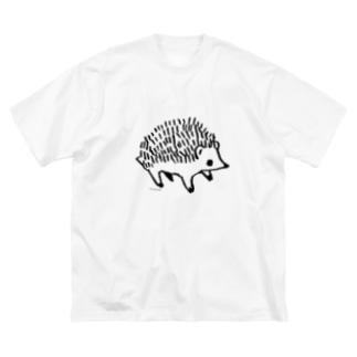 はりねずみくん Big silhouette T-shirts