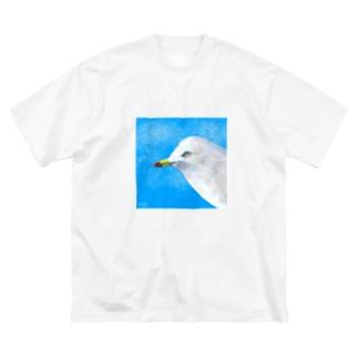 ウミネコ Big silhouette T-shirts