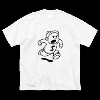 走る Big silhouette T-shirts