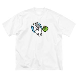 うしくんの休日 Big silhouette T-shirts