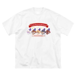 ダンス犬ダックス Big silhouette T-shirts