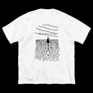 あけたらしろめのalone Big silhouette T-shirts