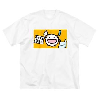 心置きなくアイスを食うと決心したねこです Big silhouette T-shirts