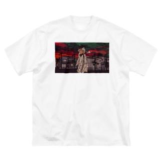 玲音エモエモTシャツ Big silhouette T-shirts