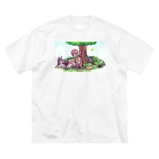 男の子とちいさなともだち Big silhouette T-shirts