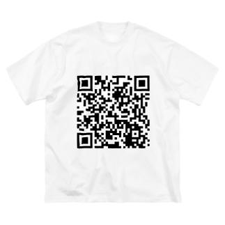 レッドシューズYouTubeQRコード Big silhouette T-shirts