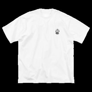 つっこみ処のねこ星人、黒 Big silhouette T-shirts
