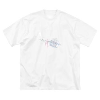 カスミソウ Big silhouette T-shirts