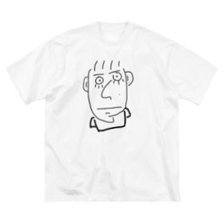 下まつげそうじろう:進学編 Big silhouette T-shirts