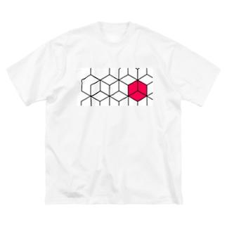 はちのす Big silhouette T-shirts