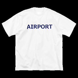アメリカンベースのエアライングッズ AIRPORT Big silhouette T-shirts